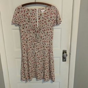 Pretty tie-front floral dress